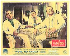 WE'RE NO ANGELS ORIGINAL LOBBY CARD HUMPHREY BOGART ALDO RAY PETER USTINOV 1955