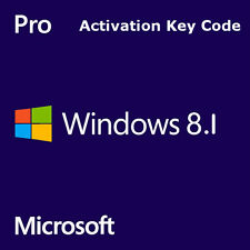 Microsoft Windows 8.1 Pro/Professional OEM Genuine Activation Life Time Key Code
