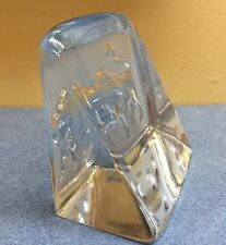 Paul Isling taurus astrological Paperweight Bookend by Nybro Glass Sweden