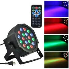 54W 18 LED PAR STAGE LIGHTS DMX-512 DJ LIGHTING RGB XMAS PARTY CLUB 6CH Remote
