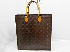 Authentic LOUIS VUITTON Sac Plat Monogram Tote Shopping Bag    6E310450s