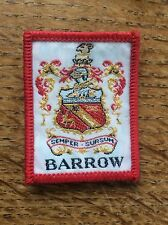 Vintage Cloth Patch Scout Badge Scouting Memorabilia Barrow Cumbria