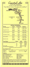 Coastal Air system timetable 1993 [5081] Buy 2 get 1 free