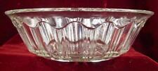 Colonial Knife & Fork Bowl Clear Early American Pattern Glass Large (O2)