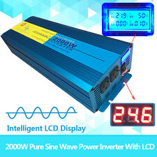 PURE SINE WAVE 2000W MAX 4000W 24V-240V POWER INVERTER CAR CARAVAN CAMPING BOAT
