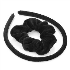 Velvet Hair Scrunchies Elastic Scrunchy Hair Band Headband Set