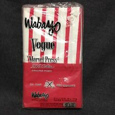 Wabasso Vogue Pillowcases Marvel Press 100% Cotton Dark Pink Stripes NOS Vtg.