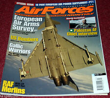 Air Forces Monthly 2001 July Mirage 2000,RAF Merlin,F-16,AMX