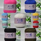 Wholesale!Soft Cool Aloes Fiber Cotton baby/crochet yarn;Fingering;24 colors!