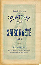"CATALOGUE "" GRANDS MAGASINS DU PRINTEMPS "" DEPARTMENT STORE CATALOG 1893"