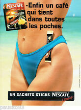 PUBLICITE ADVERTISING  046  1999  Nescafé Espresso café sachets sticks