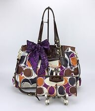 Coach 20113 Ashley Scarf Print Convertible Bag Purse, Scarf &Matching Wallet Set