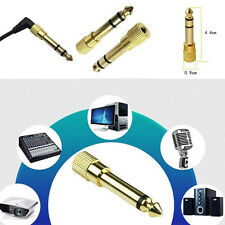 Golden 3.5mm Female Socket to 6.5mm Male Plug Audio Converters Headphone Adapter