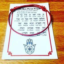 RED STRING KABBALAH BRACELET EVIL EYE BEN PORAT RACHEL TOMB BETHLEHEM + GIFT!