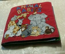 Retro Clothe Material Soft Fabric Animal Babies Infant Book