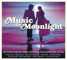 MUSIC BY MOONLIGHT - 60 INSTRUMENTAL EASY LISTENING FAVOURITES - 3 CD BOX SET