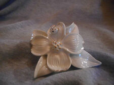 Lenox DARLING DOGWOOD Flower Sculpture New In Box 24KT GOLD ACC. GIFT FLOWERS