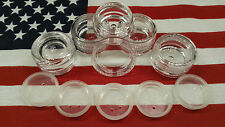 LOT OF 10 ~ 3 GRAM CLEAR CAP SIFTER JARS WITH FREE SHIPPING