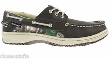 Realtree Camo Size 9.5 M Leather New Mens Boat Shoes