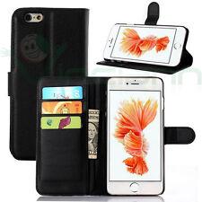 """Custodia FLIP cover NERA per iPhone 6 4.7"""" 6S case stand+tasche libretto BOOKLET"""
