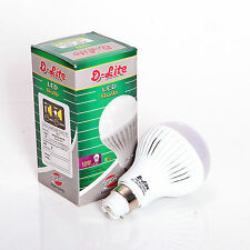 D-Lite Ultra Bright 10W LED Bulb B22 AC 220V Cool pure White LED Bulb