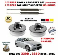 FOR BMW 330D 335D E90 2005-  NEW 2X REAR SHOCK ABSORBER SET + 2X STRUT MOUNTINGS