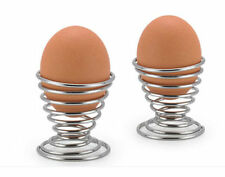 Lovely Stainelss Steel Spring Wire Tray Egg Cup Boiled Eggs Holder Stand Storage