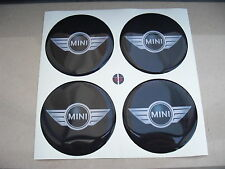 KIT CENTER CAPS ADESIVO STICKERS 3D X 4 PZ 68 mm BMW MINI ONE D COOPER WORKS S