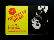 Grateful Dead Backstage Pass Peter Lorre Movie Orlando Florida 4/4/1994 FLA FL