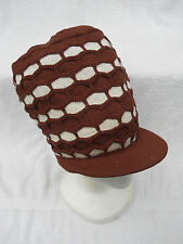 BROWN/BEIGE~RASTA CROWN~JAMAICA~MARLEY~DREADS~DREADLOCKS~ETHIOPIA~HAT~CAP~ NEW