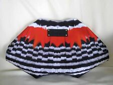 Alexander McQueen De-Manta Red Black White Feather Abstract Print Clutch Bag NWT
