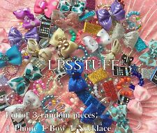 Littlest Pet Shop Random Accessory Grab Bag Lot of 3 : 1 Necklace 1 Bow 1 Phone