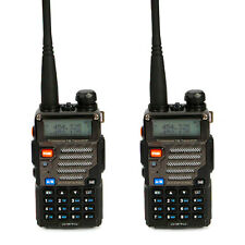 2 * Baofeng UV-5R+ Plus V/UHF 136-174/400-520MHz Dual-Band Two-way Ham Radio