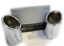 Audi TT 8J  tailpipe pipe tips Dual SET Chrome finish