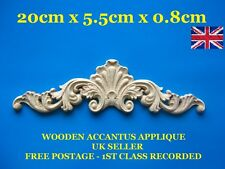 SHABBY CHIC WOODEN FURNITURE APPLIQUE DECORATIVE ONLAY MOULDING VINTAGE CARVED
