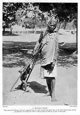 1913 Day Labouring Woman, Coolie From Benares, Teaching Child To Walk