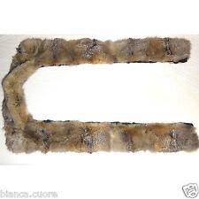 Collo VOLPETTA pelliccia vera GRANDE per contorno cappotto giacca volpe art F315