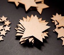 Pack of 50 x 20mm MDF Wooden Stars Laser Cut Art Craft Decor Blank Embellishment