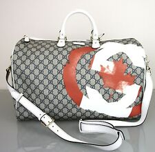 NEW Authentic Gucci Large Boston Travel Bag Duffle, Canada Canadian Flag.308264
