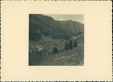 France, Haut-Queyras, sur les pentes du Lac de Ségure  Vintage silver print