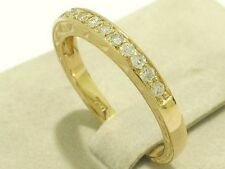 R210 Genuine 18K Yellow Gold 0.25ct Natural DIAMOND Wedding Eternity Ring size M