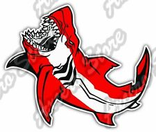 "Shark Scuba Diving Dive Flag Deep Sea Ocean Car Bumper Vinyl Sticker Decal 5""X4"""