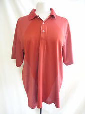 Mens T-shirt - Greg Norman, size M/M, red, collar, tiny print on sides/arms 7722