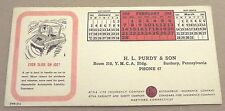 SUNBURY, PA FEBRUARY 1954 H. L. PURDY & SON AETNA INSURANCE INK BLOTTER