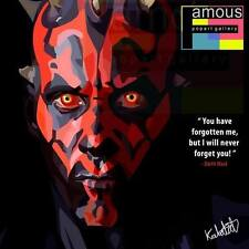 Darth Maul Starwar canvas quote wall decals photo painting framed pop art poster