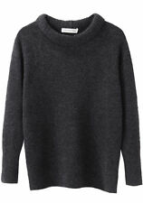 ISABEL MARANT ETOILE 'addyson long sleeve knit' grey jumper sweater wool yak 38