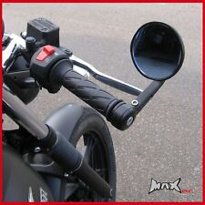 Pair of Round Motorcycle Rear View Vision Mirrors - Fits Yamaha SR400 / SR500
