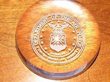 Department of The Air Force Heavy Clear Glass Paper Weight RARE