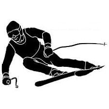 DOWNHILL SKIER  DECAL STICKER
