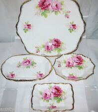 Royal Albert - American Beauty - Assorted Trays & Candy Dishes (4pcs)
